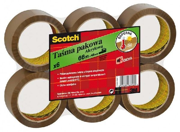 Taśma pakowa akrylowa 50 mm X 66 m SCOTCH
