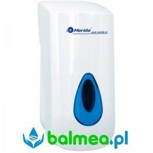 Dozownik mydła w płynie MERIDA TOP poj. 800 ml - okienko niebieskie