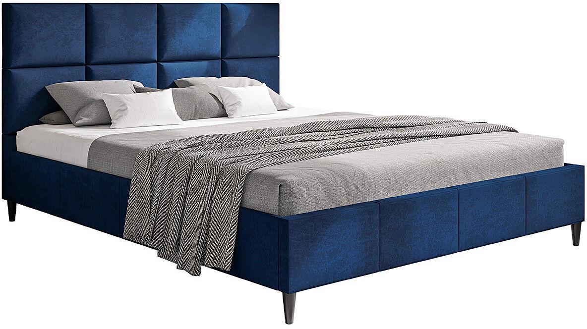 Tapicerowane łóżko z zagłówkiem 160x200 Bennet - 48 kolorów
