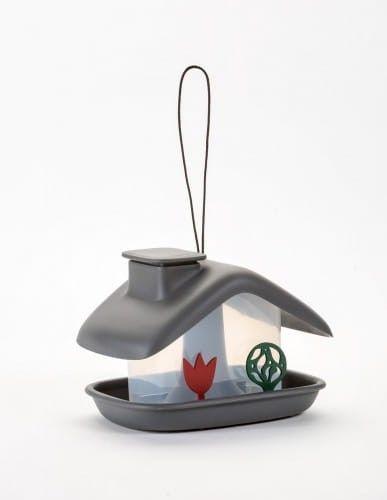 Domek karmnik dla ptaków, 21x17 cm tworzywo, Antracyt