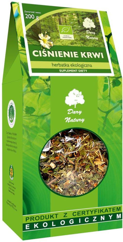Herbatka ciśnienie krwi bio 200 g - dary natury