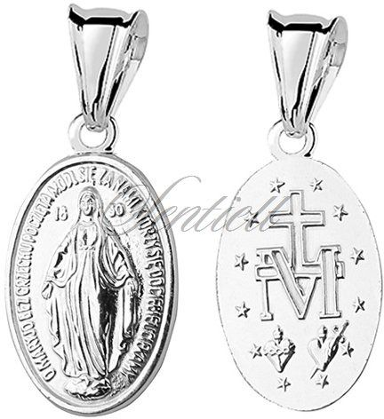 Srebrny medalik pr.925 matka boska cudowna