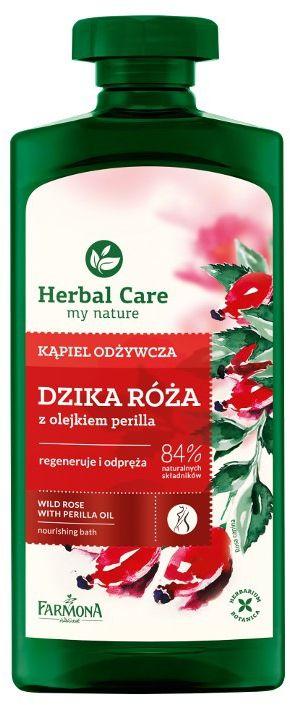 Kąpiel odżywcza DZIKA RÓŻA z olejkiem perilla HERBAL CARE 500ml