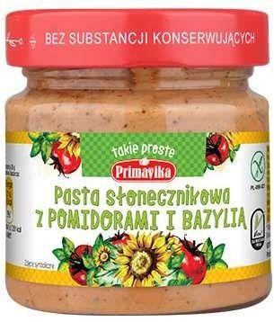 Pasta Słonecznikowa z Pomidorami i Bazylią 160g Primavika