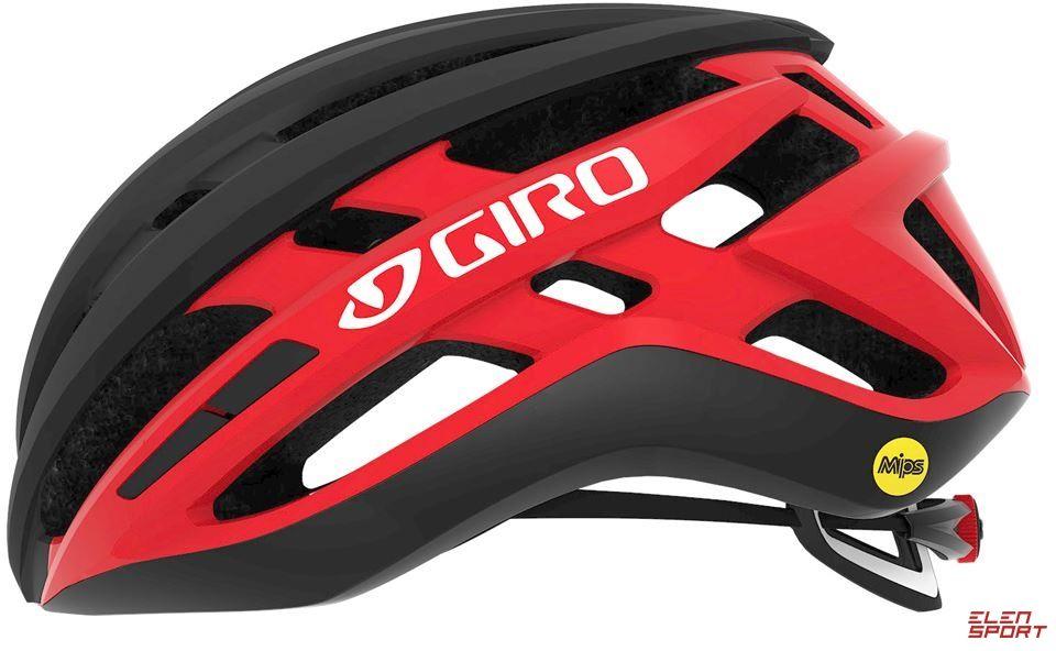 Kask rowerowy Szosowy Giro Agilis Matte Black Bright Red