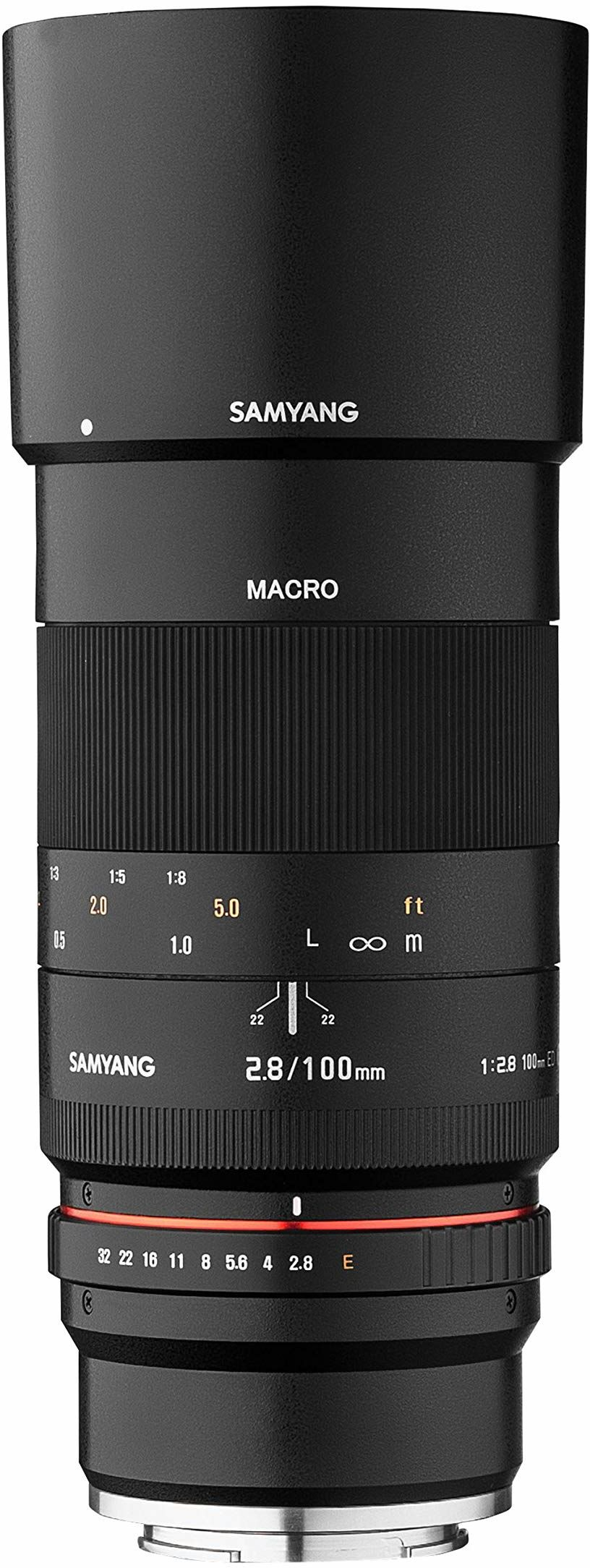 Samyang 100 mm makro F2.8 obiektyw do aparatu Fuji X czarny