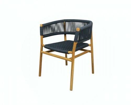 Krzesło z drewna tekowego i sznurka