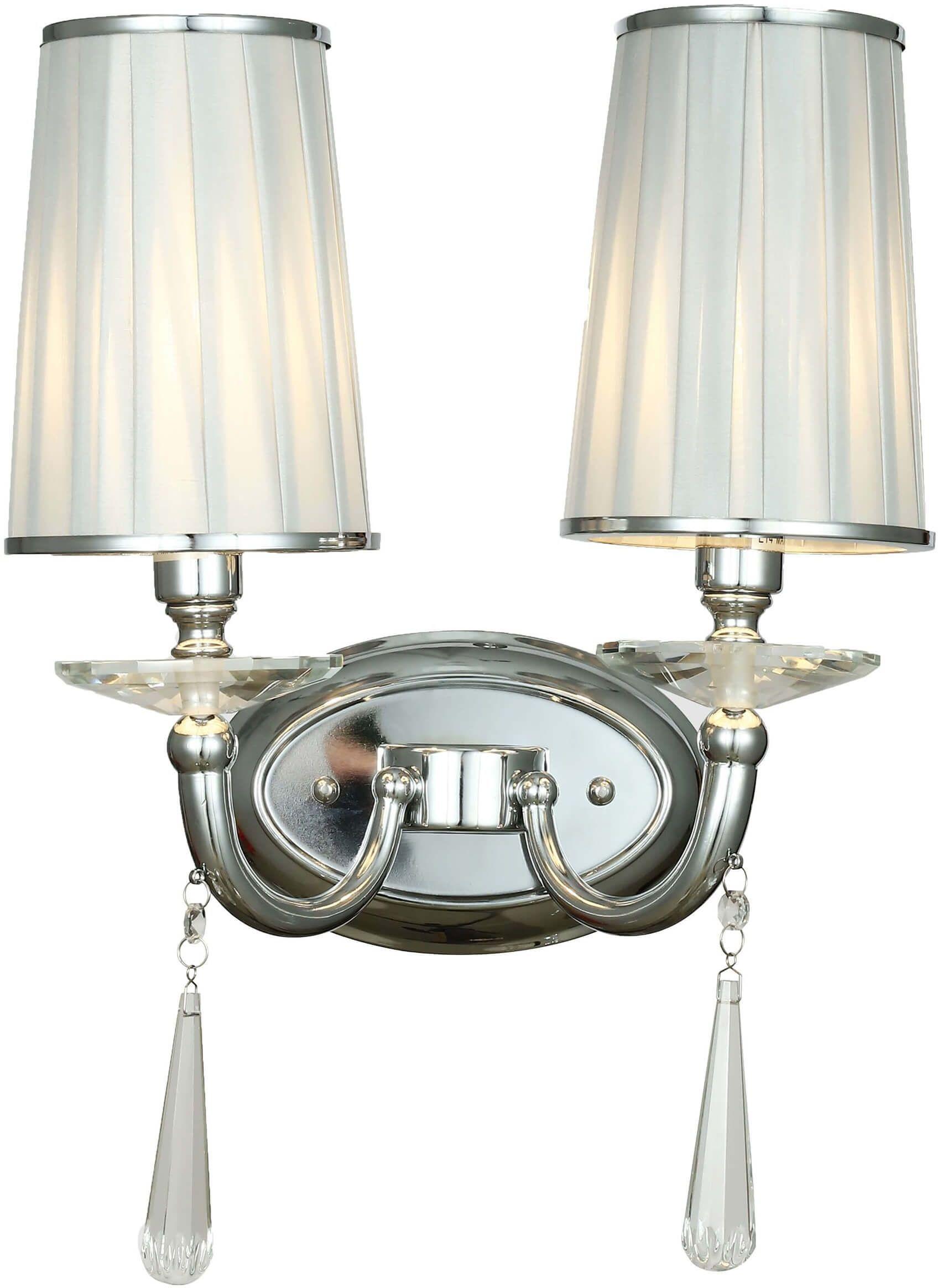 LAMPA ŚCIENNA KINKIET CHROMOWANY FABIONE W2