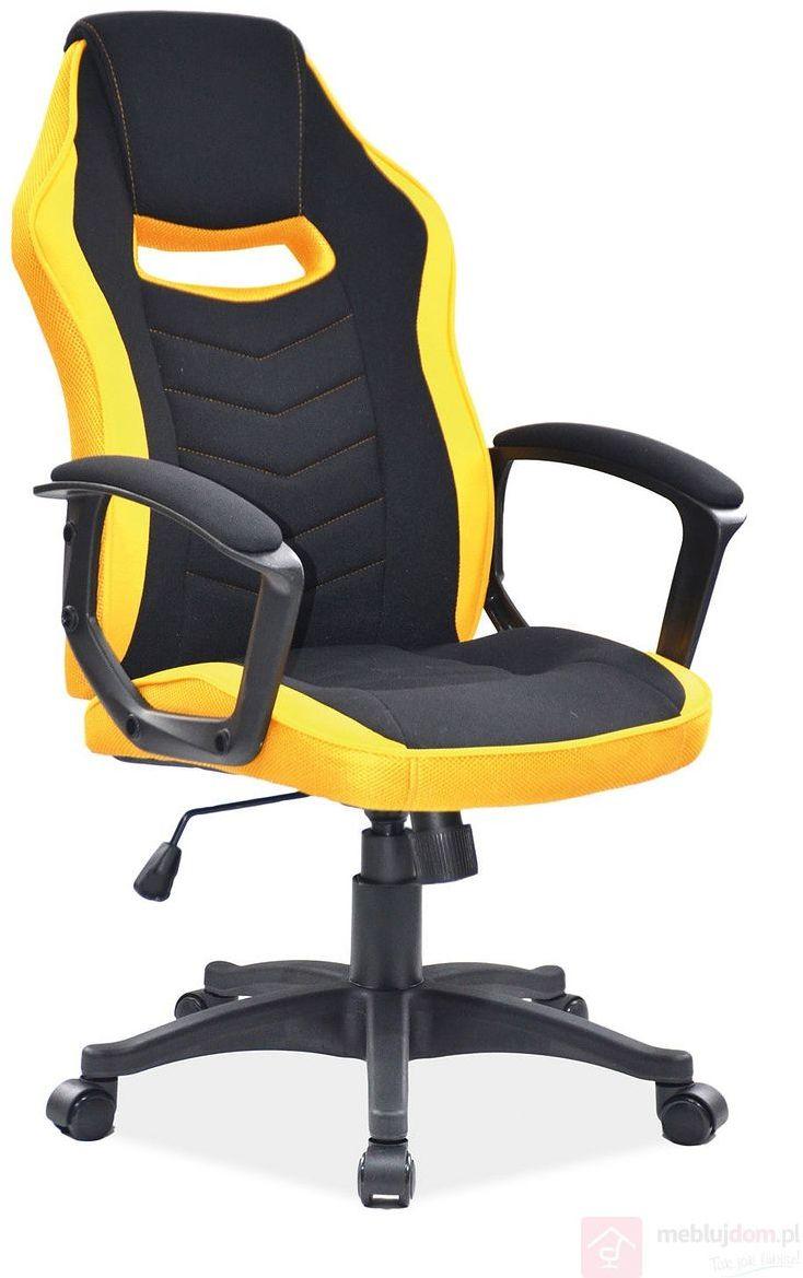 KUPON 10% NA STRONIE  Fotel CAMARO Signal Czarno-żółty