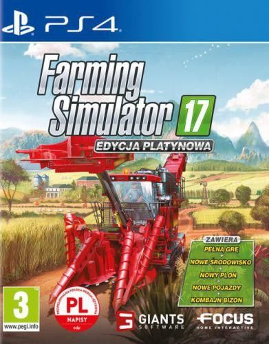 Farming Simulator 17 Edycja Platynowa PS 4 Używana