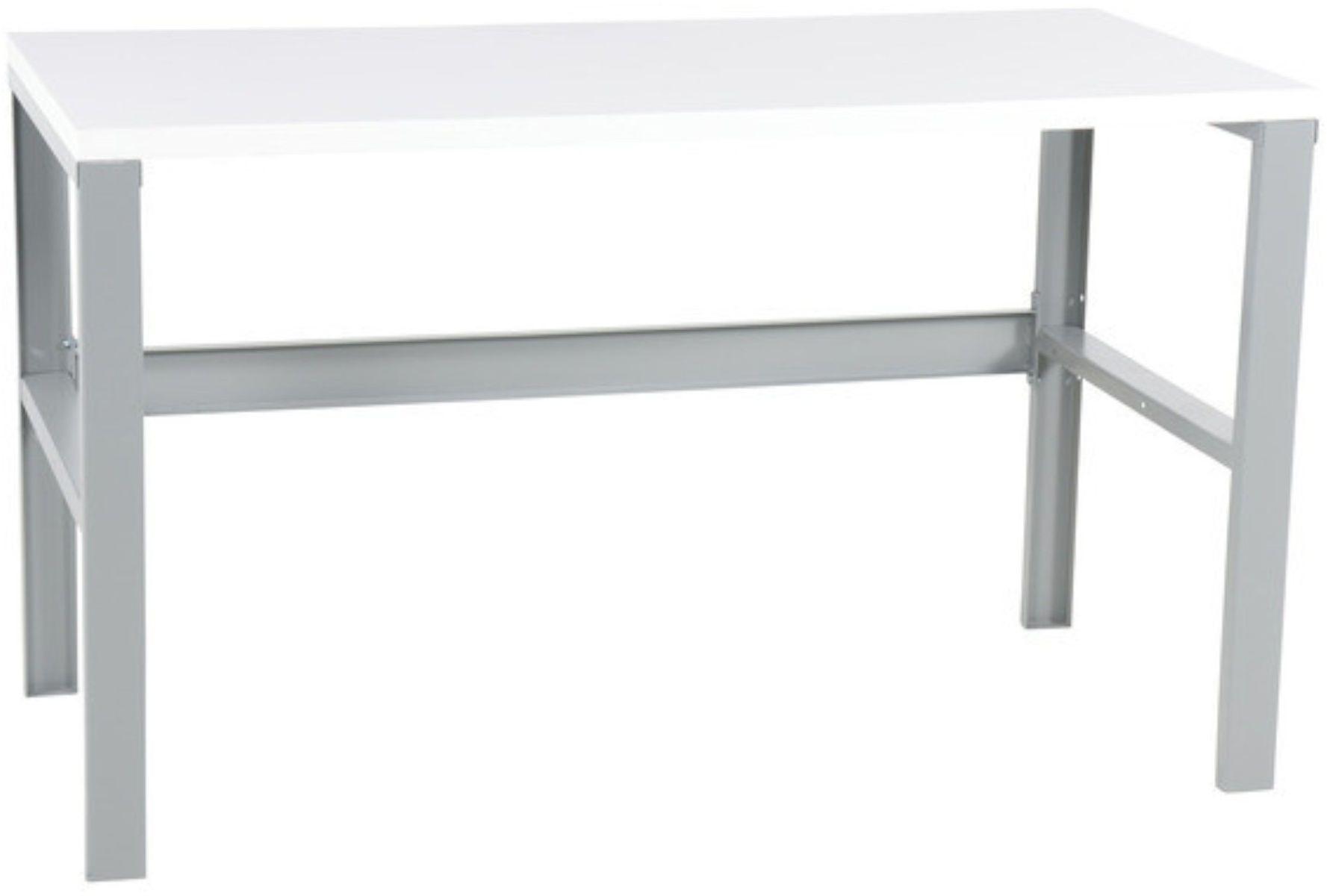 Stół warsztatowy BASIC, biały blat 1500mm, nośność 250kg