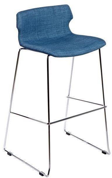 Stołek barowy TECHNO tapicerowany niebieski