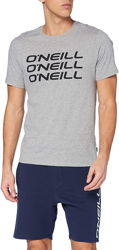O''Neill Męska koszulka Triple stack T-Shirt, Silver Mel, L