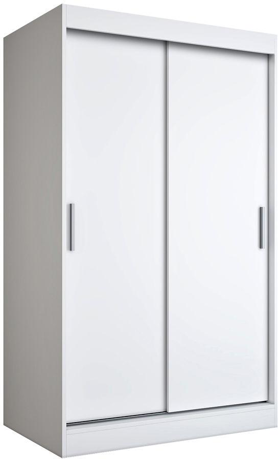 Biała szafa przesuwna 120 cm - Corina 3X