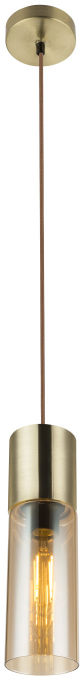 Globo ANNIKA 21000HM lampa wisząca matowy mosiądz 1xE27 10,5cm