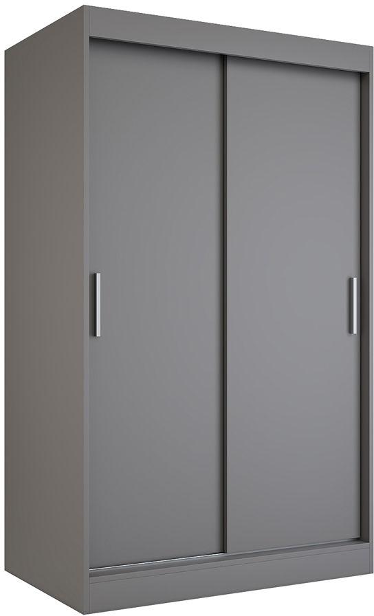 Antracytowa szafa przesuwna 120 cm - Corina 3X