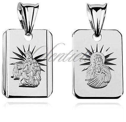 Srebrny medalik na łańcuszek pr.925 matka boska szkaplerzna