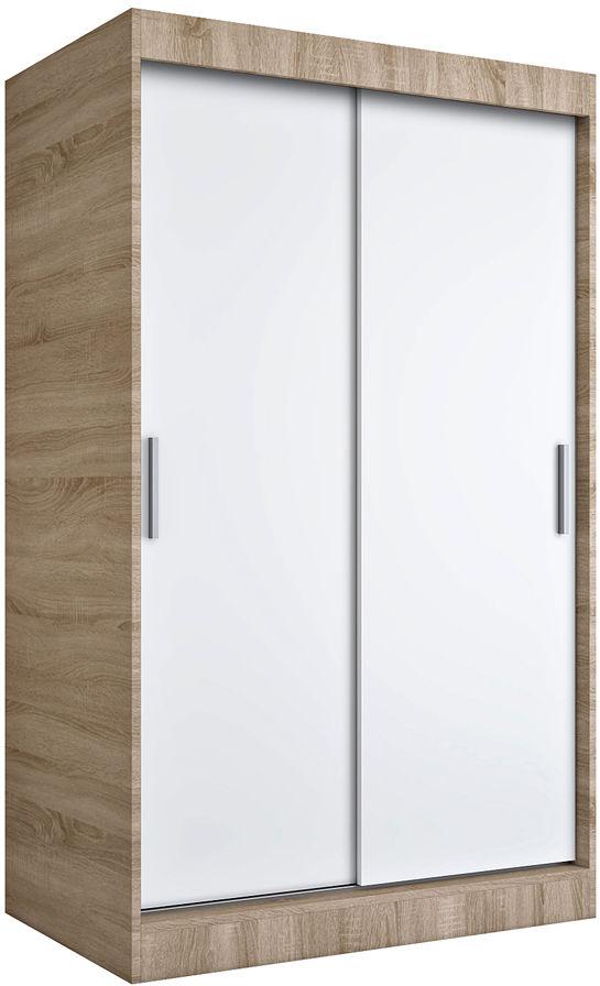 Szafa przesuwna dąb sonoma + biały 120 cm - Corina 3X