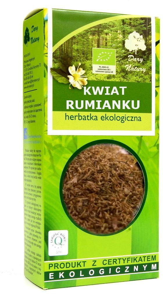Herbatka z kwiatu rumianku bio 50 g - dary natury