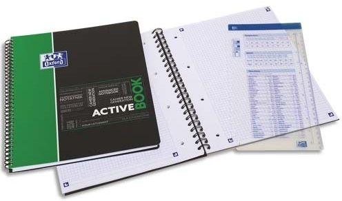 Kołozeszyt OXFORD Activebook Student A4+/80k kratka, okładka PP 400019520