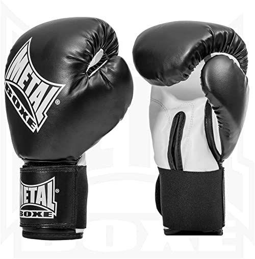 Metal Boxe rękawice bokserskie, czarne (Noir), 6 oz