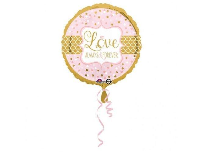Balon foliowy Love Always & Forever - 43 cm - 1 szt.