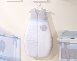 MAMO-TATO Śpiworek niemowlęcy do spania do 18 m-ca haftowany Słonik błękitny