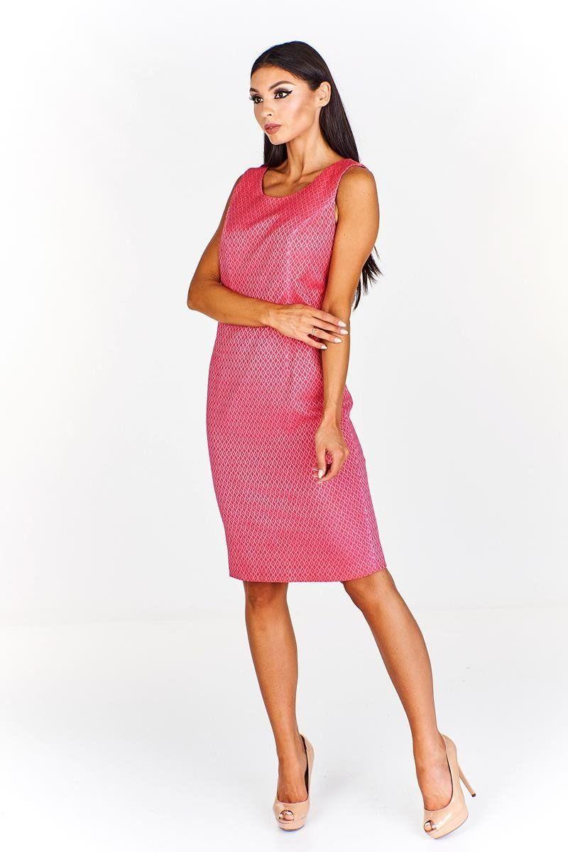 Sukienka FSU682 AMARANTOWY J