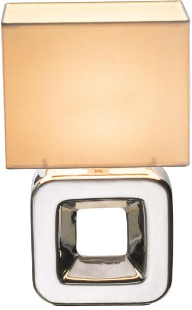 Globo KILAUEA 21602 lampa stołowa chrom biała 1xE14 20cm