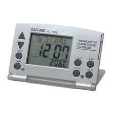 Zegar LCD składany silver