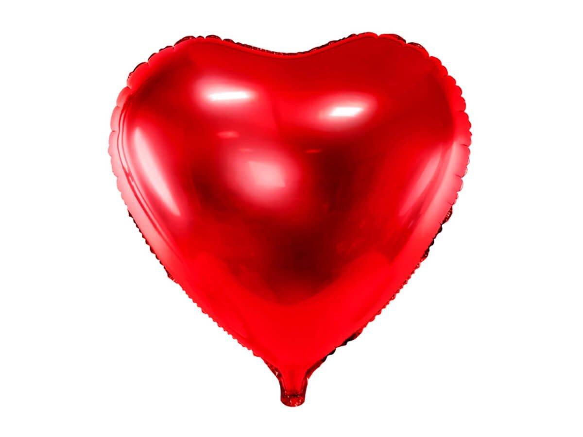 Balon foliowy Serce czerwone - 61 cm - 1 szt.