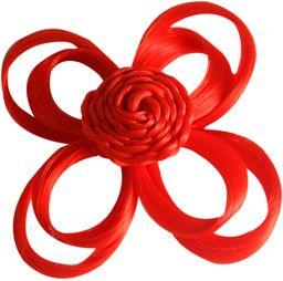 Love Hair Extensions kwiaty na zacisku krokodylkowym kolor czerwony, 1 opakowanie (1 x 1 sztuka)