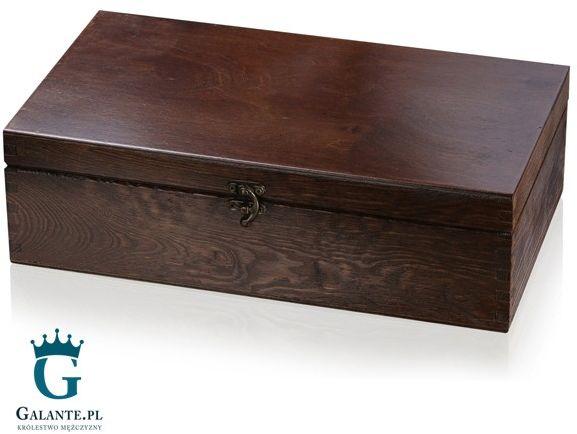 Skrzynka drewniana kuferek lakierowany 37x21x11 cm z możliwością grawerowania