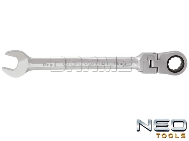 Klucz płasko-oczkowy z przegubem i grzechotką - 13 x 185MM - NEO TOOLS (09-055)