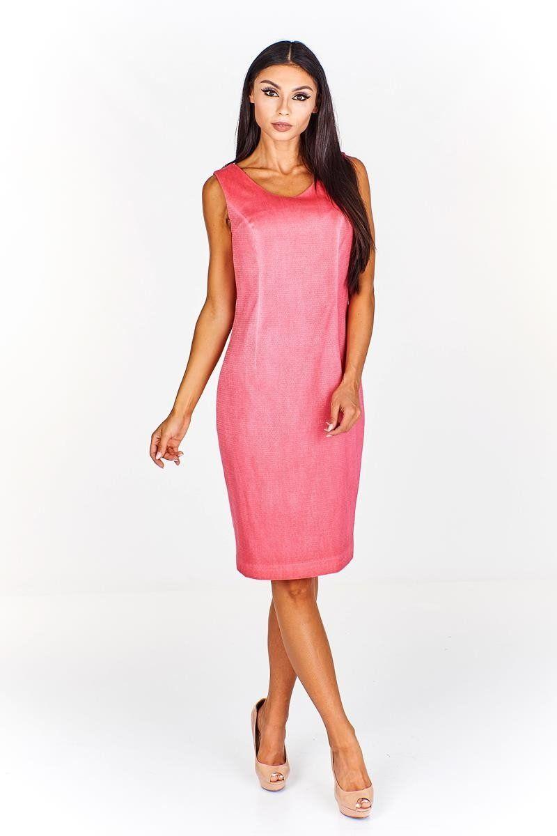 Sukienka FSU680 ŁOSOSIOWY MOCNY J