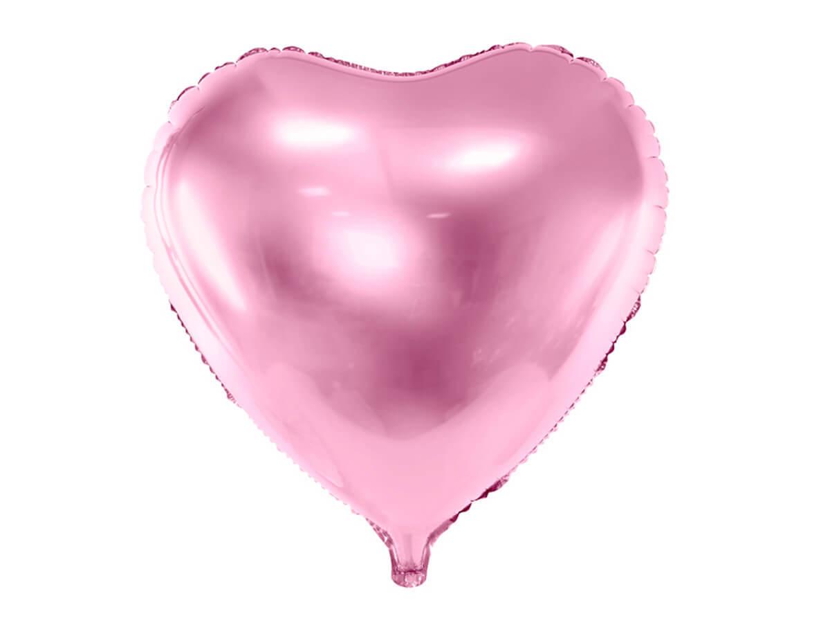 Balon foliowy Serce jasnoróżowe - 61 cm - 1 szt.