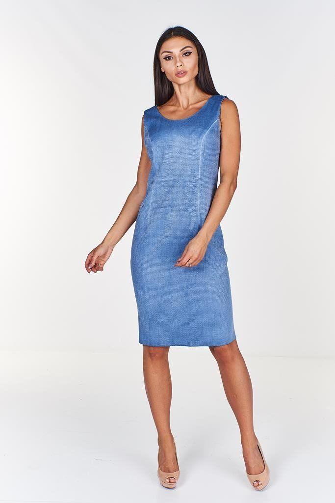 Sukienka FSU680 JEANSOWY J