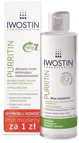 Iwostin Purritin Krem reduktor niedoskonałości na noc, 40 ml