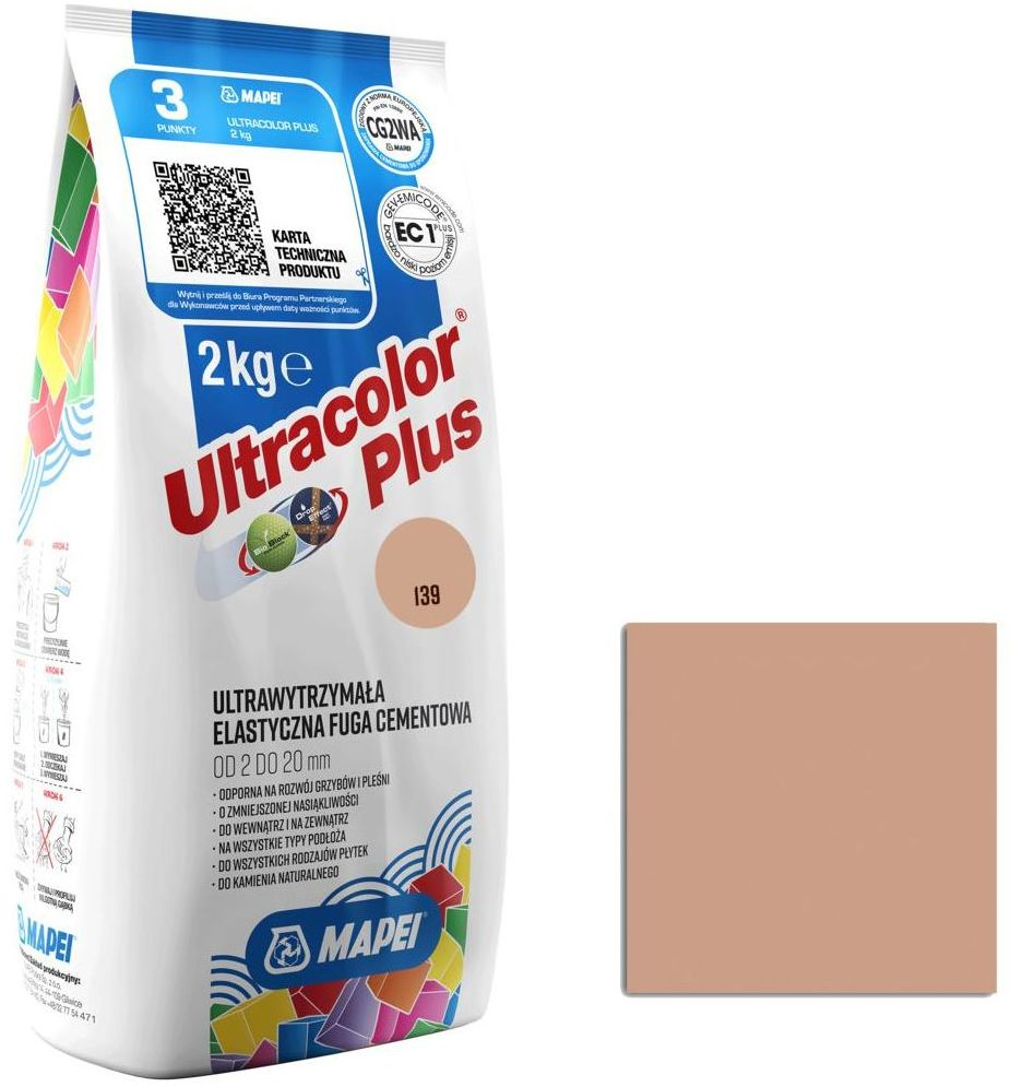 Fuga ULTRACOLOR 139 PUDROWY 2 kg MAPEI