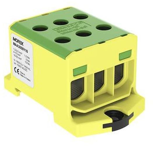 Złączka szynowa gwintowa AL/CU 1,5-50mm2 TS35 1 tor OTL50-3 żółto-zielony MAA3050Y10 89826009