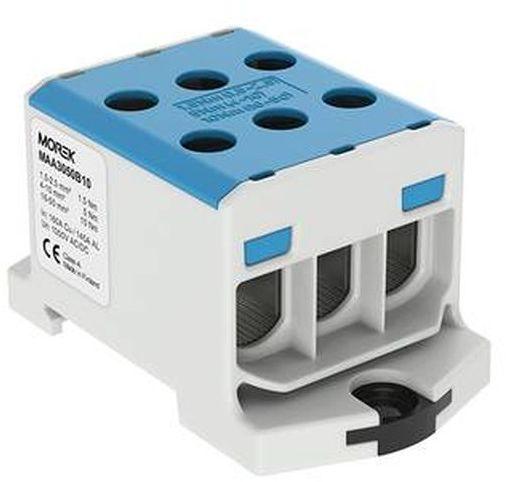Złączka szynowa gwintowa AL/CU 1,5-50mm2 TS35 1 tor OTL50-3 niebieski MAA3050B10 89826003