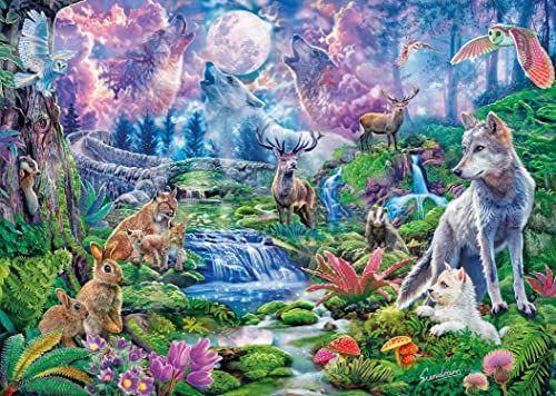 Clementoni 33549 zwierzęta leśne w świetle księżyca High Quality Collection 3000 części puzzle dla dorosłych i dzieci od 14 lat