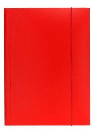 Teczka na dokumenty A4 z gumką, czerwona, ESSELTE (ES 13436)
