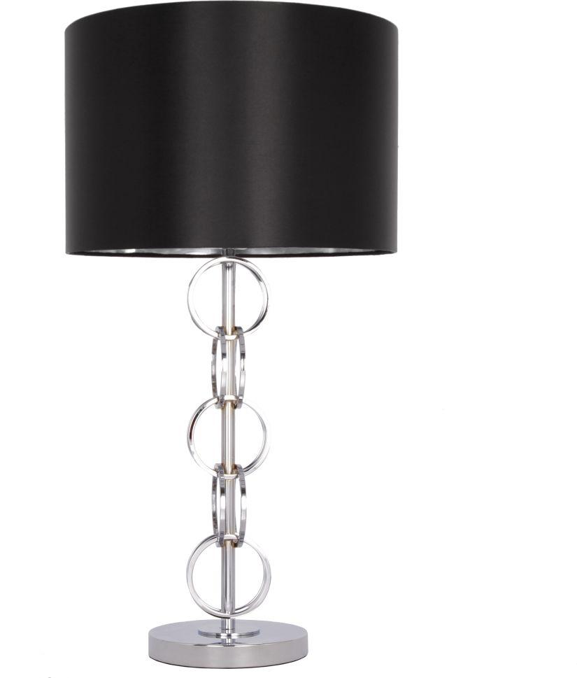 Lampa stołowa Lima T01946CH COSMOLight czarno-chromowa oprawa w stylu nowoczesnym