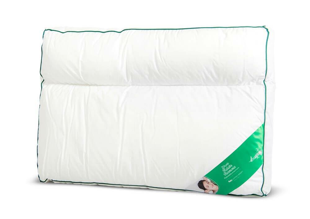 Poduszka anatomiczna 50x70 2-komorowa materacowa bawełniana 1050g biała AMZ