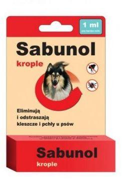 Sabunol Krople 1 ml dla Psa Przeciw Pchłom i Kleszczom