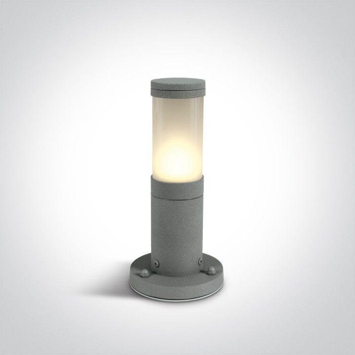Lampa stojąca ogrodowa 1 punktowa szara IP54 Lauria 25cm 67090/G - OneLight // Rabaty w koszyku i darmowa dostawa od 299zł !