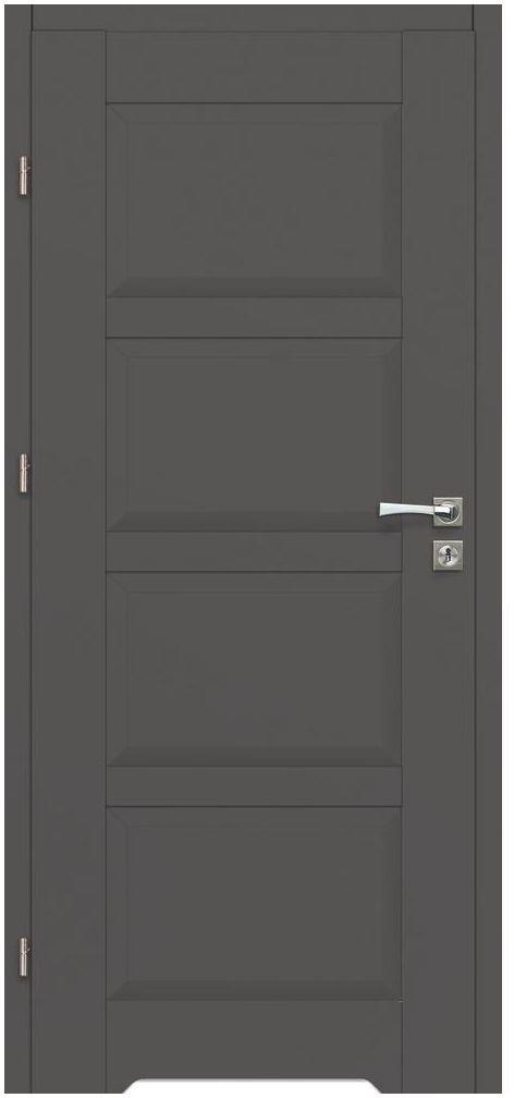 Skrzydło drzwiowe z podcięciem wentylacyjnym Lido Grafitowe 80 Lewe Artens