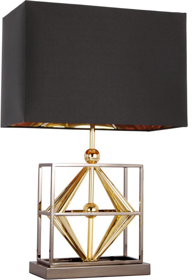 Lampa stołowa Quito T01939BK AU COSMOLight czarno-złota oprawa w stylu nowoczesnym