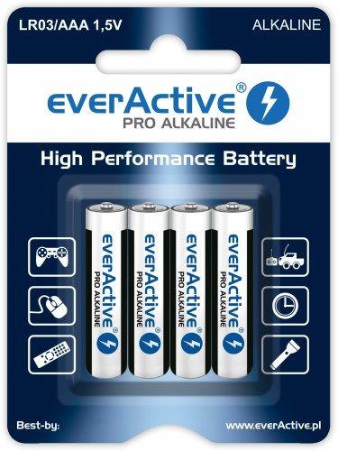 everActive LR03/AAA Pro Alkaline 4 szt Wydajna bateria alkaliczna opakowanie 4 szt